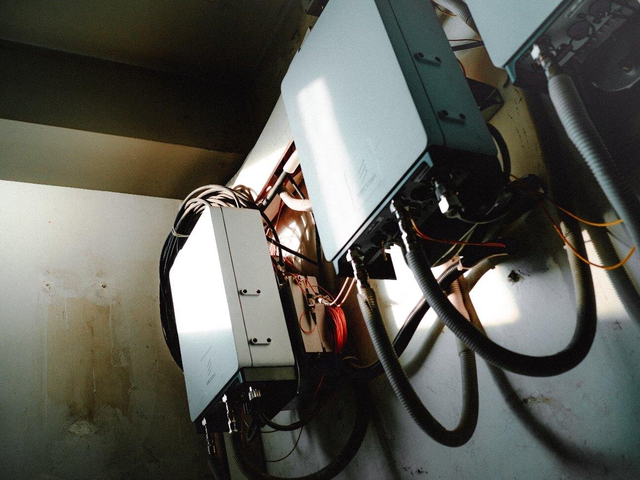 壁のネット回線設備の画像