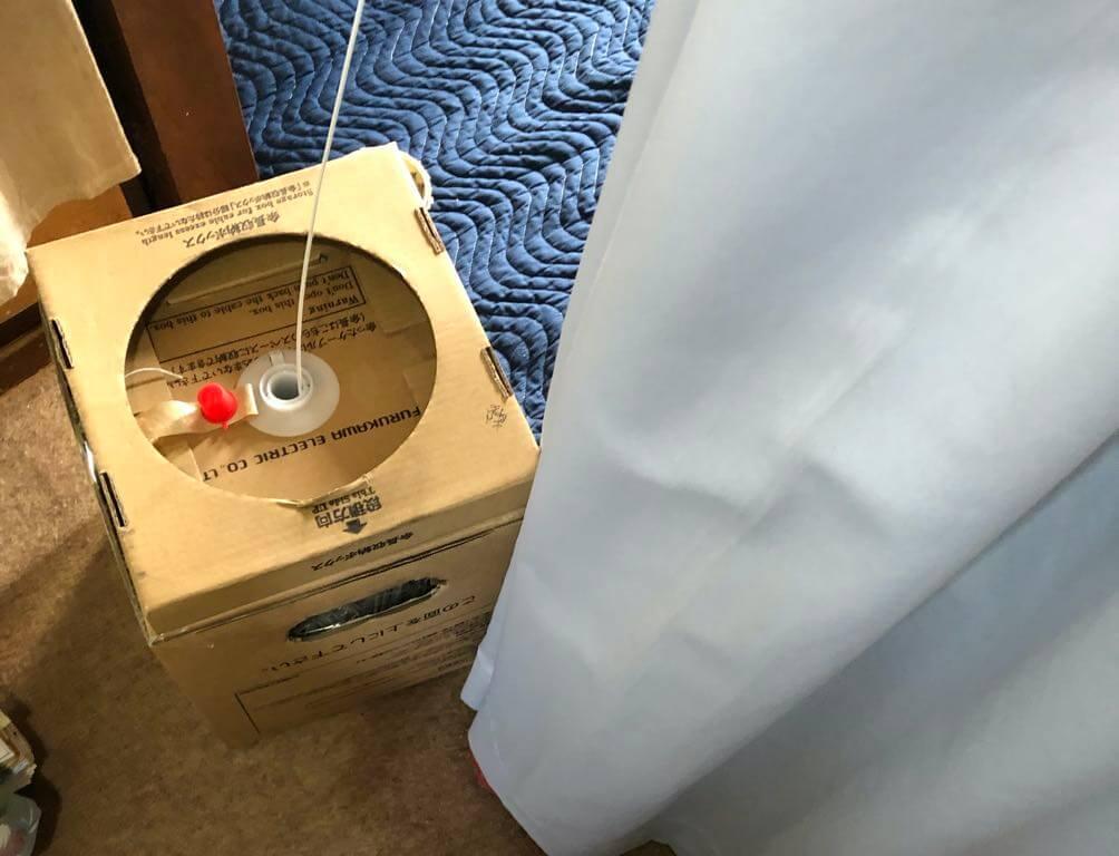 光ファイバー線の箱
